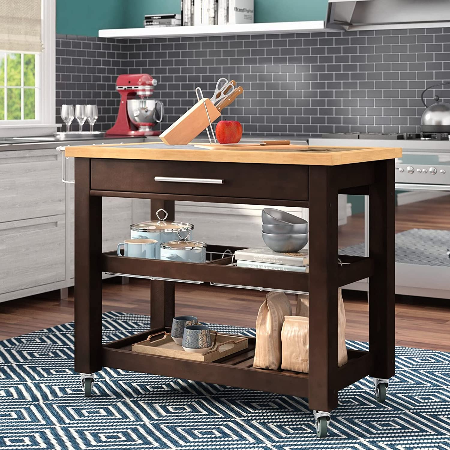 Sydney Kitchen Classic Island with Granite and Thic Top Wood Countertop online shopping