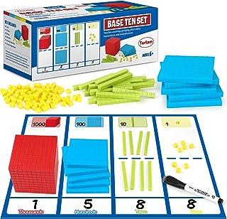 Torlam 131 PCS Base Ten Blocks for Math - Place Value Blocks, Plastic Base 10 Math Manipulatives 1st Grade, Math Counters,...