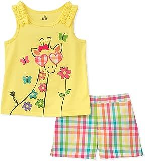 Kids Headquarters Conjunto de Pantalones Cortos de 2 Piezas para bebés y niñas de la sede de los niños