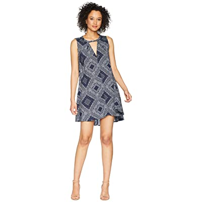 Dylan by True Grit Modern American Bandana Sleeveless Dress (Blue) Women