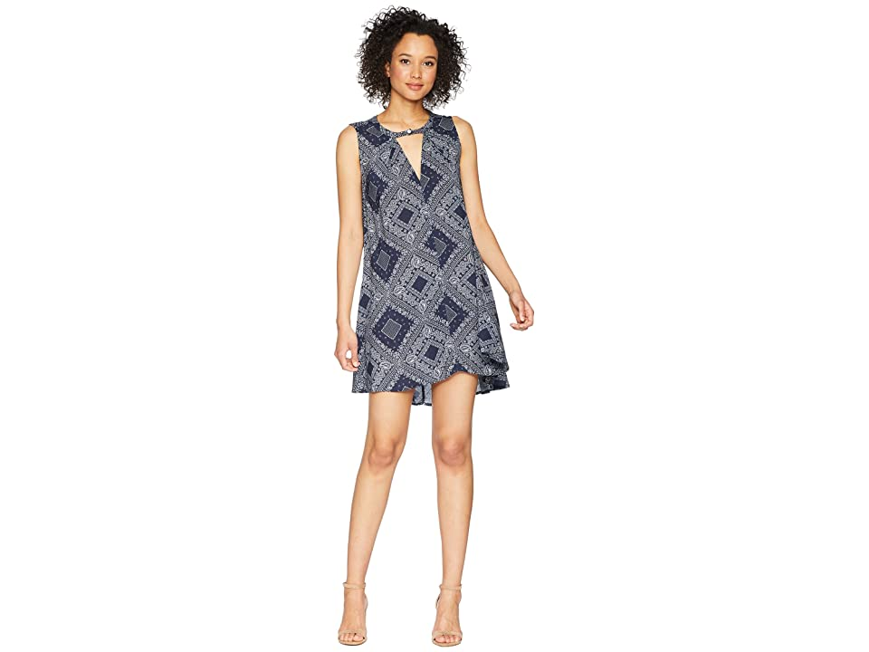 Dylan by True Grit Modern American Bandana Sleeveless Dress (Blue) Women
