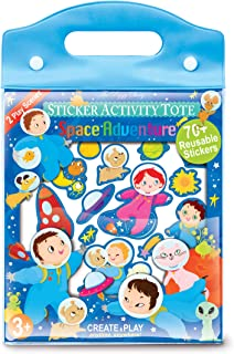 The Piggy Story 'Astronaut Adventure' Reusable Cling Sticker Activity Tote with Over 80 Stickers