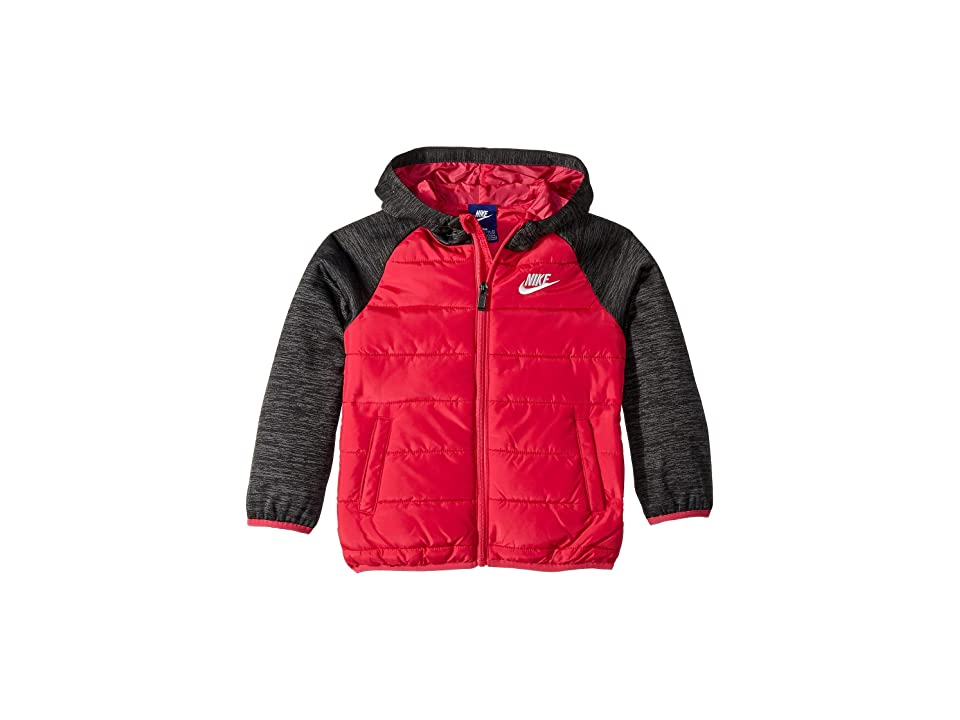 Nike Kids Therma Fleece Quilted Jacket (Little Kids) (Rush Pink) Girl