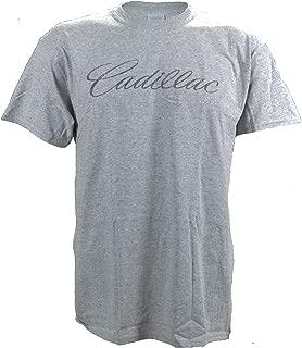 Cadillac Distressed Vintage Look Logo on a Sports Grey T Shirt