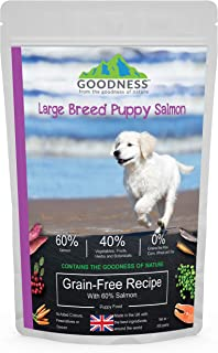 Goodness Large Breed Puppy/Junior Salmon with Sweet Potato & Vegetables Grain Free Dog Food - 500 g