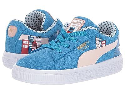 Puma Kids Sesame STR 50 Suede (Toddler) (Indigo Bunting/Veiled Rose) Kids Shoes