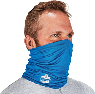 Ergodyne Chill-Its 6487 Cooling Neck Gaiter, Multiple Ways to Wear Headband or Face Mask, Blue