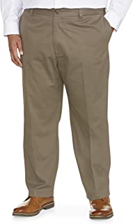 Amazon Essentials Men's Big & Tall Loose-fit Wrinkle-Resistant Flat-Front Chino Pant fit by DXL