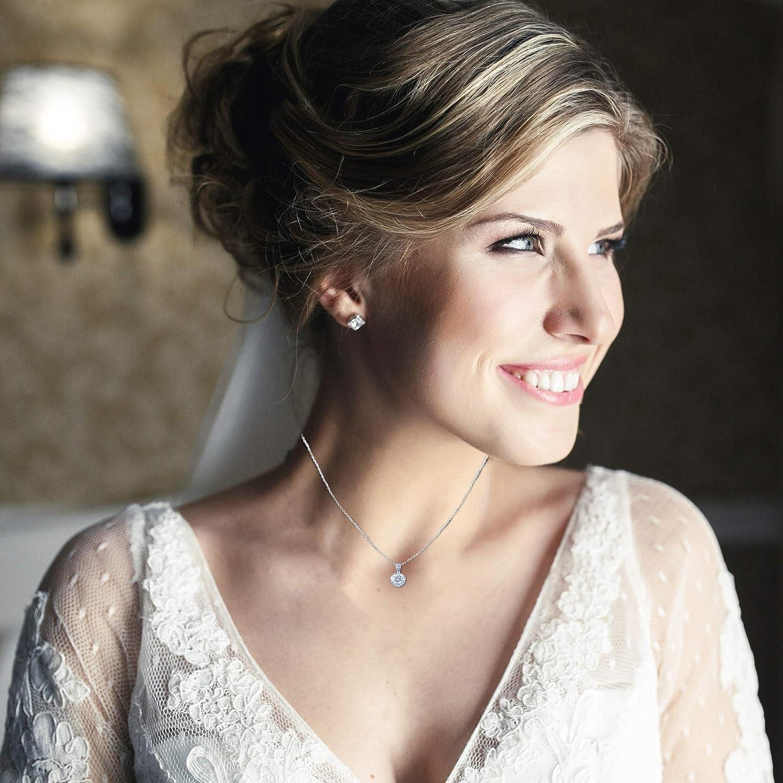 Landau Jewelry Women's Necklace - Deluxe Pave Stud - Premium Quality Finish and Stones - Elegant Design - Original Gift for Women, Girls