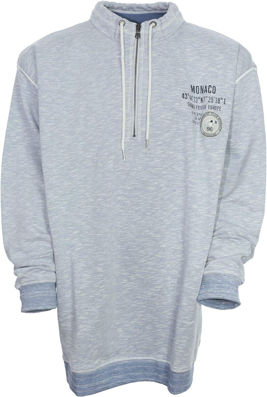 Kitaro Sweatshirt Sweattroyer Sweat Shirt Herren Langarm Baumwolle Größe 7XL