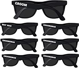 Bachelor Party Supplies - Bulk Wedding Sunglasses for Team Groom. The Groom, Best Man, Groomsman Bachelor Party Favor (7)