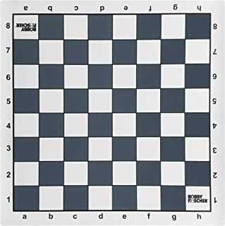 Bobby Fischer Tournament Roll Up Chess Board - Vinyl with Gray Squares by WE Games