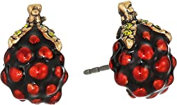 Marc Jacobs - Raspberry Studs Earrings