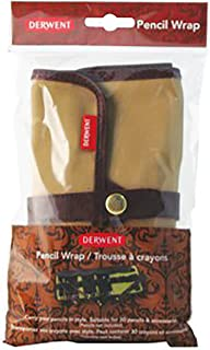 Derwent 700434 Pencil Case, Canvas Wrap Pencil Holder, Holds up to 30 Pencils and Supplies (2300671)