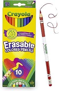 مداد رنگی Crayola قابل پاک کردن ، 10 عدد مداد غیر سمی ، پیش تیز و کاملاً پاک کننده مداد رنگی برای کتاب های رنگ آمیزی بزرگسالان یا کودکان 4 و بالاتر ، عالی برای سایه زنی ، درجه بندی ، هنر خط و سایر موارد