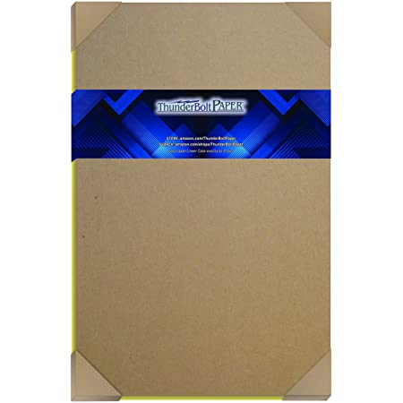 50 Sheets Chipboard 46pt (Point) 11 X 17 Inches Medium Weight Tabloid Size .046 Caliper Thickness Cardboard Craft|Packaging Brown Kraft Paper Board