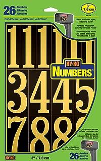 Hy-Ko Products MM-5N Self Adhesive Vinyl Numbers 3