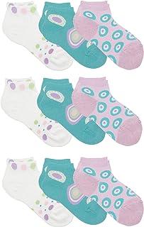 Country Kids Big Girls' Low Cut Polka Dot Everyday School Socks, Pack of 9
