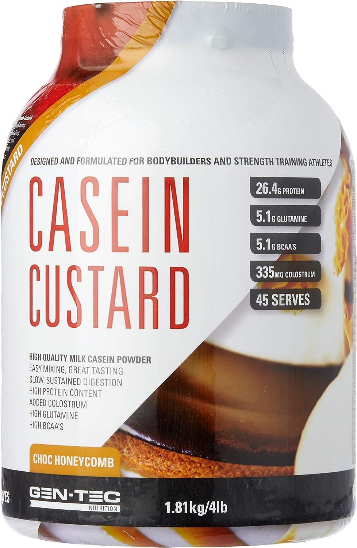 Gen-Tec Nutrition Casein Custard Chocolate Honeycomb Powder, 1.8 Kilograms