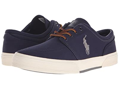 Polo Ralph Lauren Faxon Low (Newport Navy/Basic Grey Canvas) Men