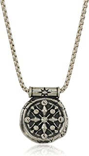 Alex and Ani Men's Compass 32-Inch Pendant Necklace, Sterling Silver, Expandable