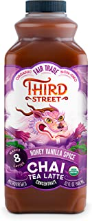 Third Street Chai Organic Honey Vanilla Spice Chai, Honey Vanilla Spice, 32 Fl oz (Pack of 8)