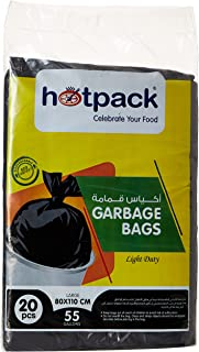 Hotpack Garbage Bag, 80x110 cm, 55 Gallon, 20 Pieces
