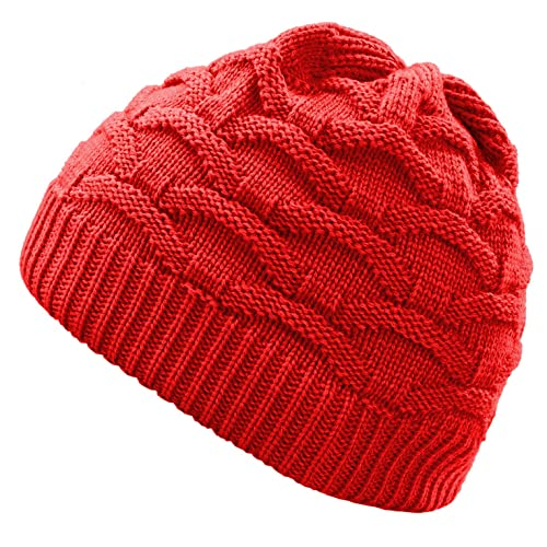 fa00cdc2bbd 4sold Wave Womens Girls Winter Hat Wool Knitted Beanie Fleece Cap Ski  Snowboard Hats Bobble