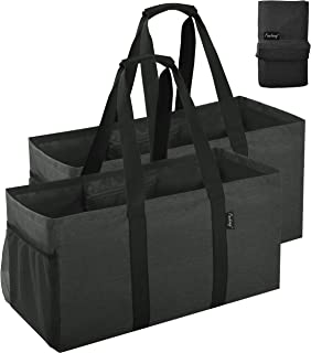 Finnhomy 42L Extra Large Utility Tote Bag, Durable Oxford Fabric Storage Bag with Handles and Pockets, Reusable Folding Gr...