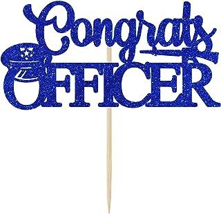 Congrats Officer Cake Topper, 2021 Officer Graduation Cake Decor, Police College School Graduation,Class of 2021 Police Ac...