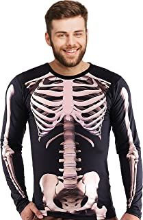 Showu Mens Halloween Christmas Costume Long Sleeve T Shirt 3D Printed Undershirt Top