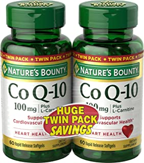 Natures Bounty CoQ10 Pills and Dietary Supplement Supports Cardiovascular and Heart Health 100mg 60 Softgels 2 Pack