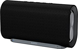 AUKEY Eclipse Bluetooth Speaker 20 W with 12 Hours Playtime, Enhanced Bass with Dual Passive Radiators/Subwoofers and Wove...