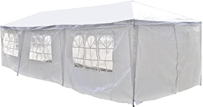 ALEKO APT30X10GAZEBO Outdoor Event Canopy Tent Shelter Wedding Party 30 x 10 x 8.5 Feet White