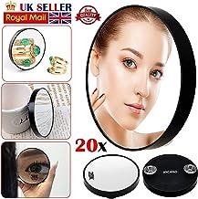 ARAZO - Espejo de aumento profesional para maquillaje de ojos, 20 aumentos
