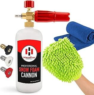 HassPro Foam Cannon Pressure Washer Gun - Premium Quality Foam Blaster 1LT Bottle with 1/4