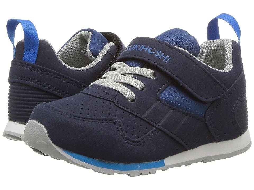 Tsukihoshi Kids Racer (Toddler/Little Kid) (Navy/Blue) Boys Shoes