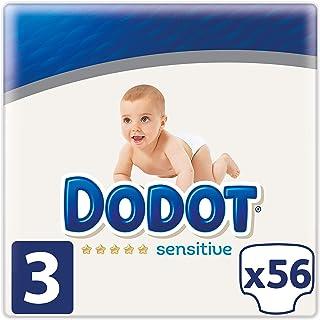 Dodot Sensitive - Pañales Talla 3, 56 Pañales, 6 a 10 kg