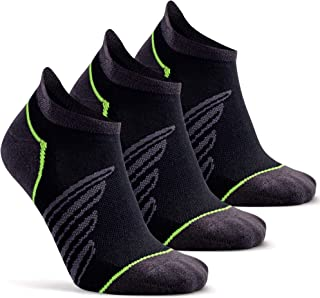 Compression Support Ankle Running Sport Socks for Men Women, Socks Daze Low Cut Half Cushioned Athletic Tab Socks 1/3 Pack