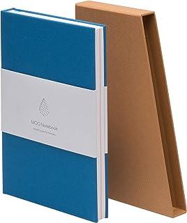 نوت بوک گالینگور MOO Lined - Premium Blue Lay Flat Journal - کاغذ ضخیم 5x8 برای نوشتن و کار ، یادداشت های میدانی و جلسات (آبی آسمانی)