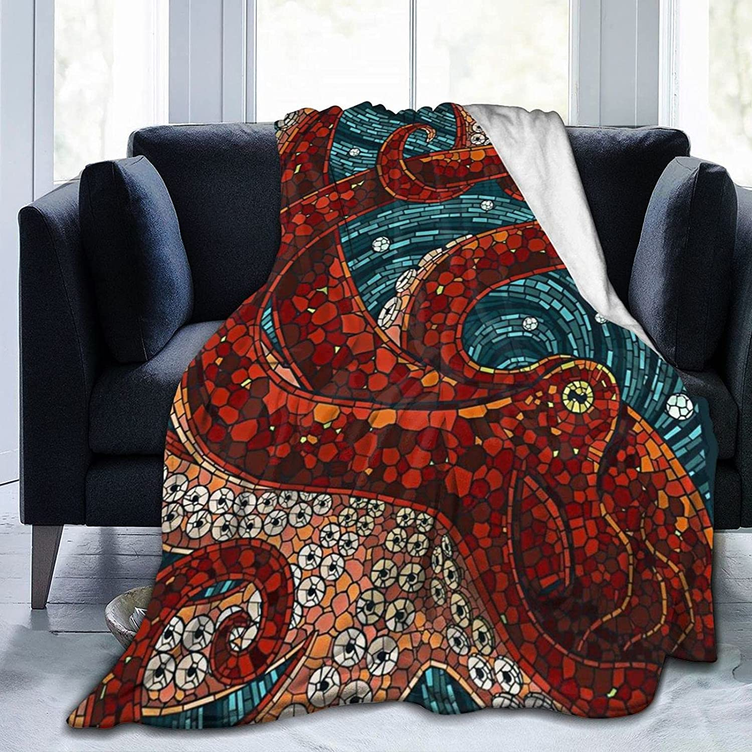 Octopus Oversized Bed Blankets Las Vegas Mall sold out Blanket Breathable Tr Lightweight
