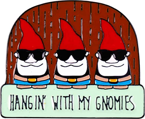 wholesale GSM Brands Hangin' with 2021 My Gnomies Lawn Gnomes Enamel Lapel popular Pin outlet sale