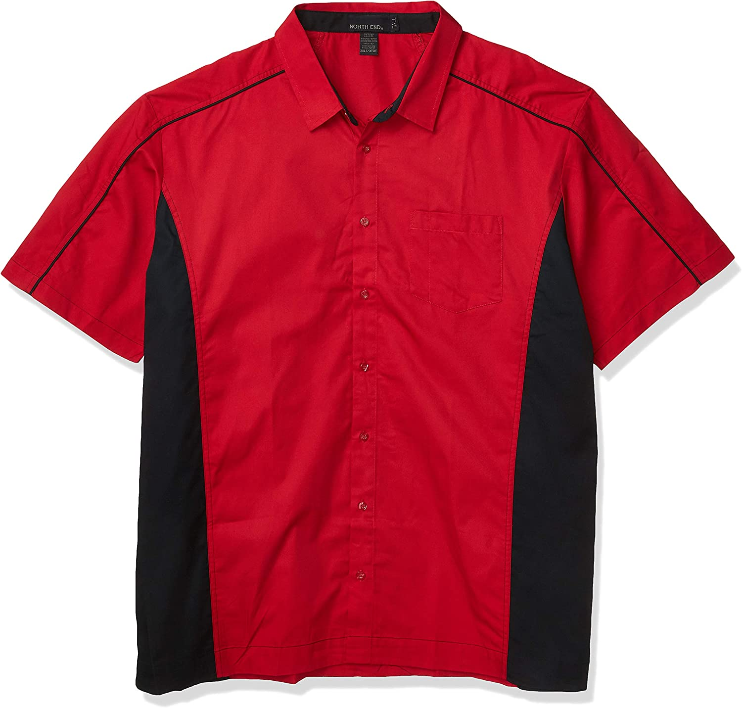 Ashe City Men's Fuse Color Block Twill Short Sleeve Button Up Shirts
