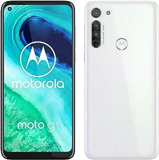 Motorola Moto G8 (Pantalla de 64 HD+ o-notch 4G Qualcomm Snapdragon SD665 Sistema de cámara triple 64 GB 4 GB RAM Android 10) Blanco [Exclusivo Amazon]