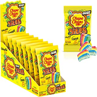 Chupa Chups Fruity Sour Bites, 8 Bags, Perfect Small Treats, Great for Snacking, Sharing and Gifting, 8 x 193.6 g