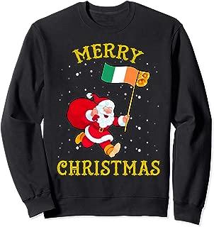 Santa Ireland Merry Christmas Xmas Sweatshirt