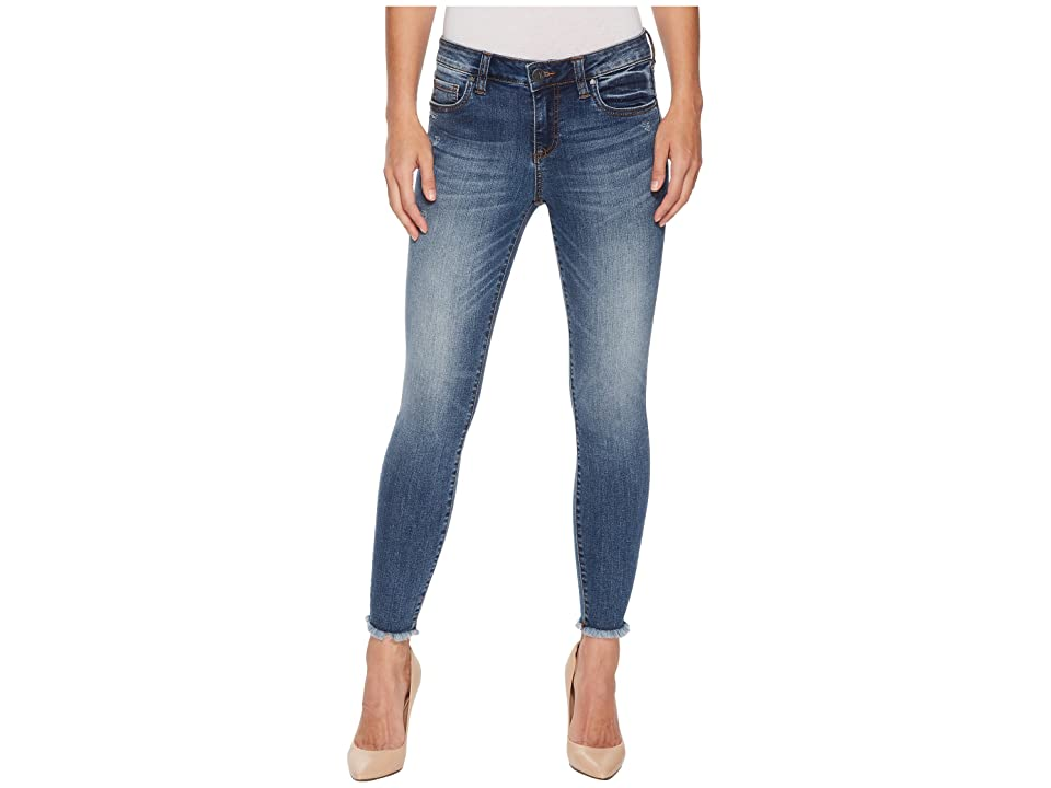KUT from the Kloth Connie Ankle Skinny Fray Hem Jeans in Guileless/Medium Base Wash (Guileless/Medium Base Wash) Women