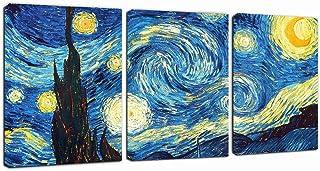 "Canvas Wall Art Lake Beach Colorful Stones Under Sunset Canvas Art 12"" x 16"" x 3 Panels Landscape Canvas Prints Artwork Fr..."