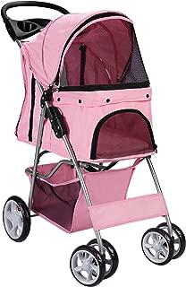 Paws & Pals 4 Wheeler Elite Jogger Pet Stroller Cat/Dog Easy Walk Folding Travel Carrier