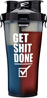 HydraCup - Dual Shaker Bottle, Get Shit Done Shaker Cup, Made in USA. by Hydra Cup